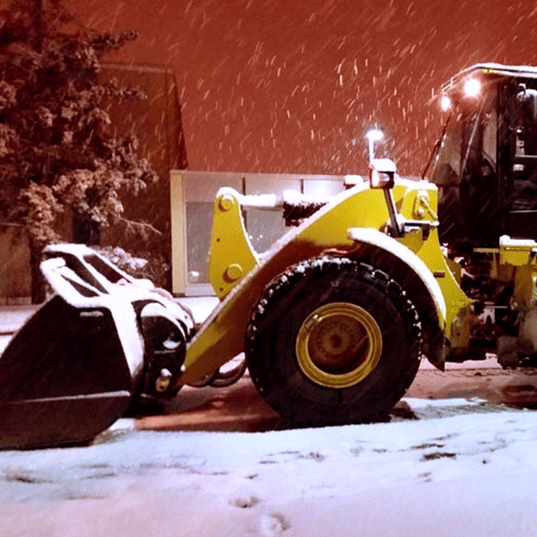 Night plowing streets